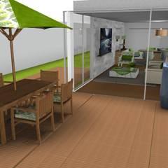 sala de jantar : Centros de exposições  por fc decoração de interiores