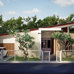 Detached home by Griya Cipta Studio, Tropical پتھر