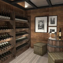 Wine cellar by Petillo Arquitetura,