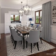 classic Dining room by MIKOŁAJSKAstudio