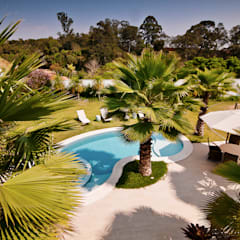 Jardines tropicales de Maria Luiza Aceituno arquitetos Tropical
