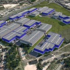 Condomínio Logístico   82.000,00m²: Edifícios comerciais  por Sônia Beltrão Arquitetura