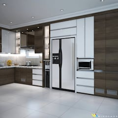Kitchen Set Ms Shintya. Labersa Village, Pekanbaru Riau:  Unit dapur by Widhendra interior