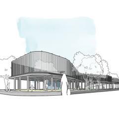 Tambaksari Street Vendor Center: Ruang Komersial oleh ordes arsitektur, Industrial Beton