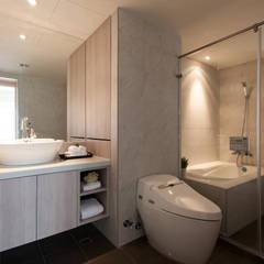 明水苑 | 稜線 (住宅設計案2015):  浴室 by 北歐制作室內設計
