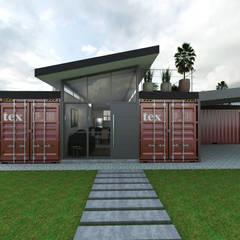 خانه ها توسطPetillo Arquitetura, مدرن فلز