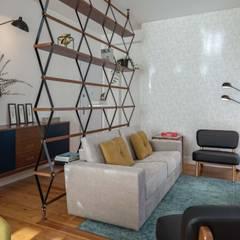 SMALL APARTMENT IN LISBON: Salas de estar  por Conceitos Itinerantes,Moderno