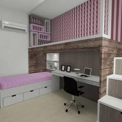 Cadu Martins Arquiteto e Urbanista:  tarz Kız çocuk yatak odası