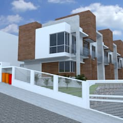 منزل عائلي كبير تنفيذ Cadu Martins Arquiteto e Urbanista,