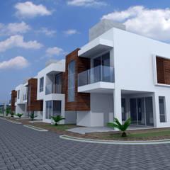 Condomínio Residencial Unifamiliar: Casas familiares  por Cadu Martins Arquiteto e Urbanista