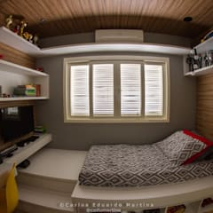 Teen bedroom by Cadu Martins Arquiteto e Urbanista
