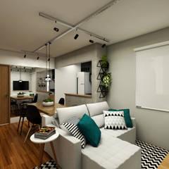 Apto. Santo André : Salas de estar  por Studio Monfre Arquitetura