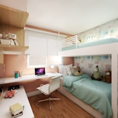 Girls Bedroom by Studio Monfre Arquitetura
