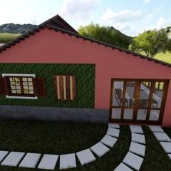 Casas de campo de estilo  por Igor Cunha Arquitetura