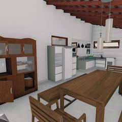 Rancho M.A.: Armários e bancadas de cozinha  por Igor Cunha Arquitetura