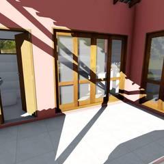 Puertas de vidrio de estilo  por Igor Cunha Arquitetura