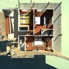 CASA DE PLAYA: Cuartos de estilo  por Proyectonica , Tropical Madera Acabado en madera