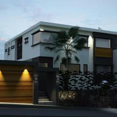 Casa Tijuana: Casas de madera de estilo  por V Arquitectura