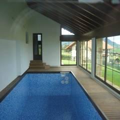 Piscina climatizada: Piscinas de estilo  de Arquitecto César Carlón