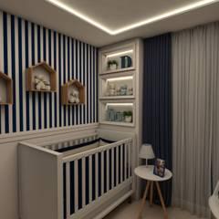 Quarto de Bebê: Quarto infantil  por Tuanny Pinto Arquitetura & Interiores