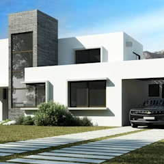 Single family home by AOG, Mediterranean Bricks