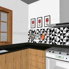 Reforma cozinha : Cozinhas embutidas  por Karina Barreto arquitetura