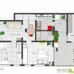 Projeto de interiores: Paredes  por Karina Barreto arquitetura