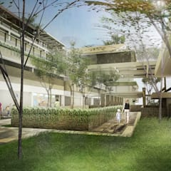 Children's home: Health and Education Center for Children with Autism and Down-syndrome:  Sekolah by Sanny Yuwono