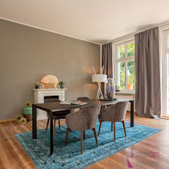 Home Staging einer Villa in Berlin Lichterfelde:  Esszimmer von staged homes,
