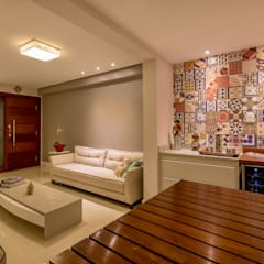 غرفة المعيشة تنفيذ DM ARQUITETURA E ENGENHARIA