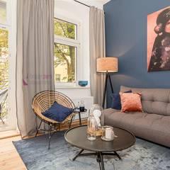 Home Staging des Wohnzimmers: asiatische Wohnzimmer von staged homes