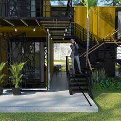Ruang Komersial Modern Oleh GT-R Arquitectos Modern Besi/Baja