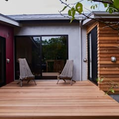 Ichinomiya_house: tai_tai STUDIOが手掛けたテラス・ベランダです。,ラスティック 木 木目調