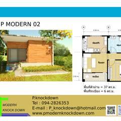 TYPE P MODERN 02:  บ้านและที่อยู่อาศัย by P Knockdown Style Modern