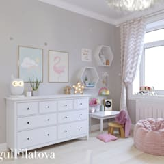 Girls Bedroom by FilatovaInteriors