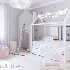 FilatovaInteriors:  tarz Kız çocuk yatak odası