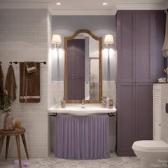 Дизайн санузла в стиле прованс в квартире по ул. Думенко, г.Краснодар: Ванные комнаты в . Автор – Студия интерьерного дизайна happy.design