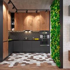 Квартира 50 кв.м. в стиле эклектика в ЖК ART: Гостиная в . Автор – Студия архитектуры и дизайна Дарьи Ельниковой
