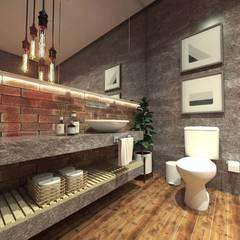 Baños de estilo  por Caroline Berto Arquitetura
