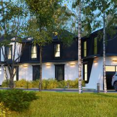 PROPUESTAS DE FACHADA: Casas de madera de estilo  por arquitecto9.com