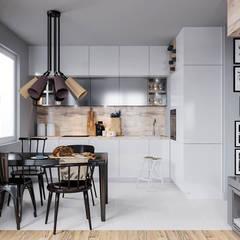 mieszkanie w nowej zabudowie: styl , w kategorii Kuchnia zaprojektowany przez UrbanForm