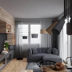 mieszkanie w nowej zabudowie: styl , w kategorii Salon zaprojektowany przez UrbanForm