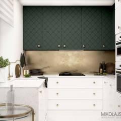Ekskluzywna dżungla do mieszknia: styl , w kategorii Kuchnia na wymiar zaprojektowany przez MIKOŁAJSKAstudio
