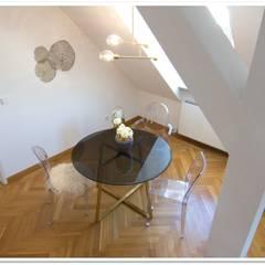 Loft - Essbereich : minimalistische Esszimmer von Münchner home staging Agentur GESCHKA