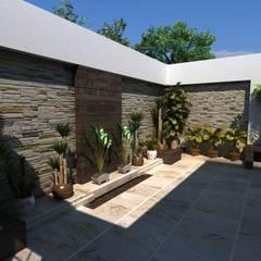 OLLIN ARQUITECTURA :  tarz Zen bahçesi