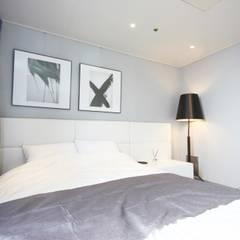 일산 22평 호텔 같은 싱글남 홈스타일링 : homelatte의  침실