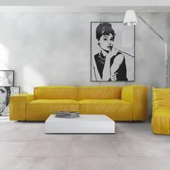 Wohnzimmer im Loftstyle mit Fliesen gestalten: industriale Wohnzimmer von Fliesen Sale