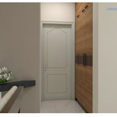 Project in Bachupally @ Praneeth Antilia to Peter:  Corridor & hallway by shree lalitha consultants,Asian Engineered Wood Transparent