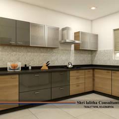 Armarios de cocinas de estilo  por shree lalitha consultants