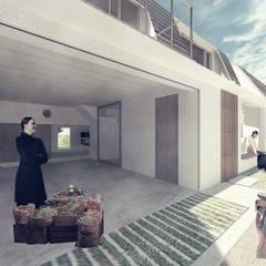 Garagens e edículas escandinavas por 富永大毅建築都市計画事務所